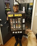 Hot Shots Vending Machine Homemade Costume