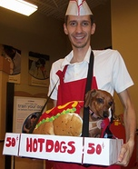 Homemade Hot Dog Vendor Costume