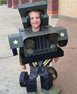 Hound the Jeep Transformer Homemade Costume