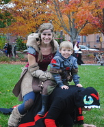 Fun family Halloween costume ideas - How to Train Your Dragon 2 Homemade Costume