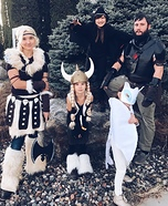 How to Train Your Dragon Family Homemade Costume