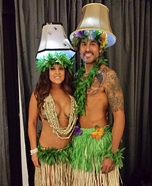 Hula Lamps Homemade Costume