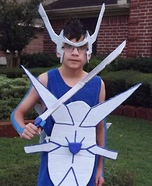 Human Dialga: Pokemon of Time Homemade Costume