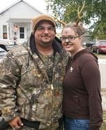 Hunter and Deer Homemade Costume