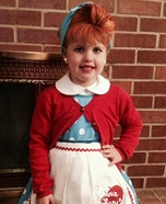 Halloween costume ideas for girls: I Love Lucy Homemade Costume