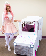 Ice Cream Girl with Ice Cream Truck Homemade Costume
