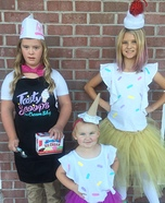 Ice Cream Parlor Employee & her Sweet Treats Homemade Costume