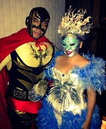 Ice Queen and Rey Mysterio Homemade Costume