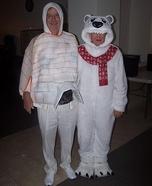 Igloo and Polar Bear Homemade Costume
