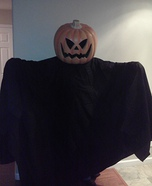 Homemade Jack-O-Lantern costumes
