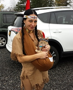 Indian and Papoose Homemade Costume
