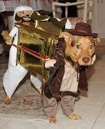 Creative costume ideas for dogs: Indiana Jones Carrying the Ark Costume for Dogs