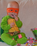 Infant Mutant Ninja Turtle Homemade Costume