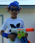 Inkling Boy Homemade Costume
