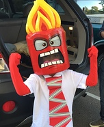 Inside Out Anger Homemade Costume