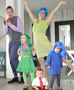 Inside Out Family Homemade Costume