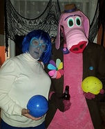 Inside Out Sadness and Bing Bong Homemade Costume