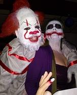 IT Clown and Female Joker Homemade Costume