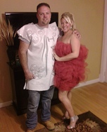 Ivory Soap and Loofah Couple's Costume
