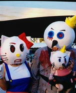 Jack and Hello Kitty with Baby Homemade Costume
