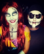 Couple's Jack Skellington and Sally Costume