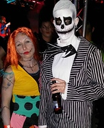 Jack Skellington and Sally Couple Costume