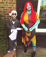 Jack Skellington and Sally Rag Doll Homemade Costume