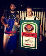 Jagermeister and Redbull Homemade Costume