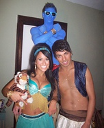 Homemade Aladdin character costumes