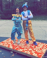 Jasmine and Aladdin on their Magic Carpet Homemade Costume