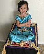 Jasmine on Magic Carpet Homemade Costume