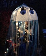 Jelly Fish with Lights Homemade Costume