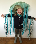 Jellyfish Girl Homemade Costume