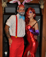 Jessica and Roger Rabbit Homemade Costume
