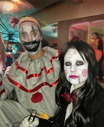 Jigsaw & Twisty the Clown Homemade Costume