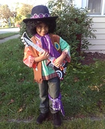 Jimi Hendrix Boy Homemade Costume