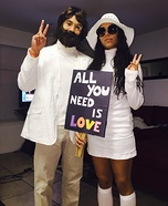 Coolest couples Halloween costumes - John & Yoko Ono Costume