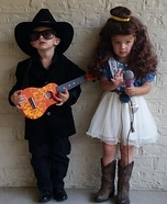 Johnny Cash and June Carter Twins Homemade Costume