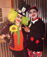 Joker / Mad Hater and Harley Quinn Homemade Costume