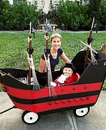 Jolly Roger Wagon Pirate Ship Homemade Costume