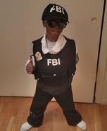 Jr FBI Agent Homemade Costume