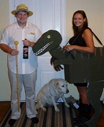 Couples Halloween costume idea: Jurassic Park Couple Halloween Costume Idea