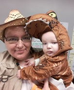 Jurassic T-Rex hatchling with Archeologist Homemade Costume