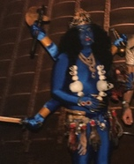 Kali Hindu Goddess Homemade Costume