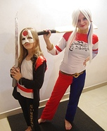 Katana and Harley Quinn Homemade Costume
