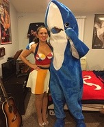 Katy Perry and Left Shark Couple Homemade Costume