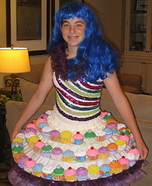 Katy Perry's Cupcake Dress Homemade Costume