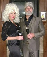 Kenny Rogers & Dolly Parton Homemade Costume