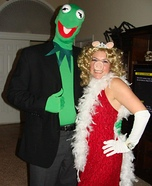 Kermit and Miss Piggy Couple Halloween Costume