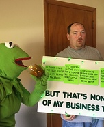 Kermit Meme It's None of My Business Homemade Costume